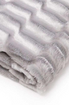 Super Soft Faux Fur Sherpa Throw Blanket (Grey & Chocolate)