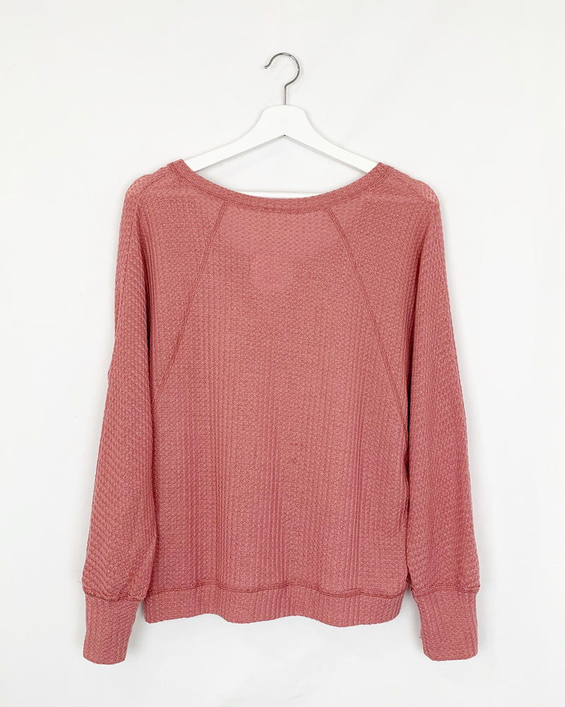 'Love me More' Waffle Knit