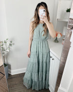 'In the Garden' Tiered Maxi Dress