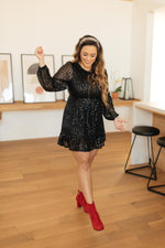 Mia Sequin Dress in Black