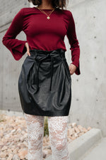 Faux But Fabulous Leather Skirt In Black