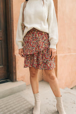 Four Seasons Floral Mini Skirt