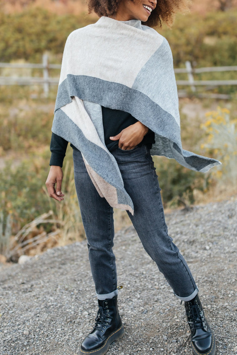 Lightly Layering Poncho Cardigan