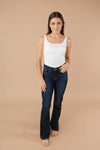 Judy Blue Whiskered Dark Wash Bootcut Jeans