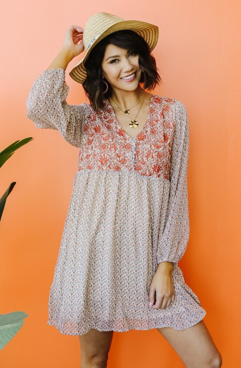 Autumn Embroidered Dress