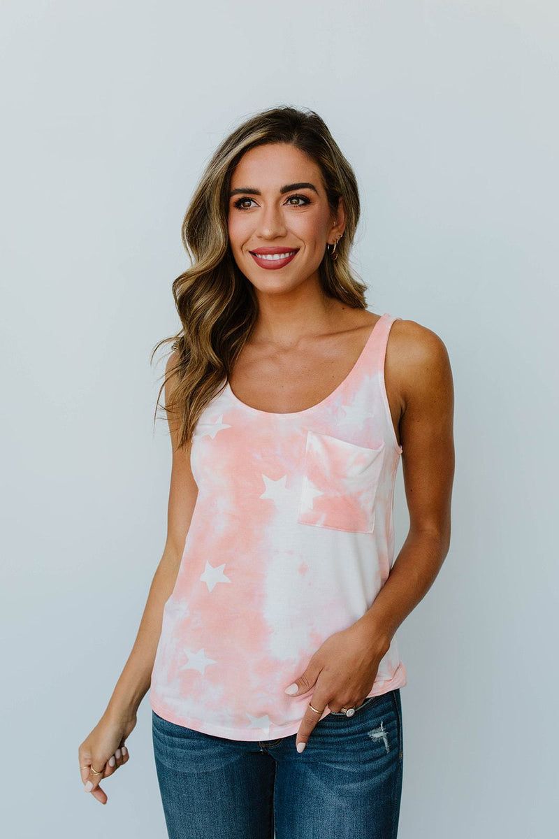 Cloudy With A Chance Of Stars Tank In Blush