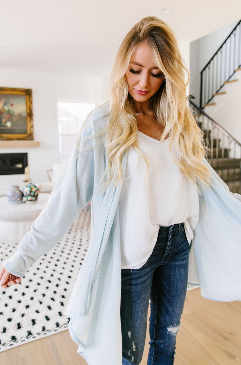 Free Fall Pale Blue Cardigan SAMPLE
