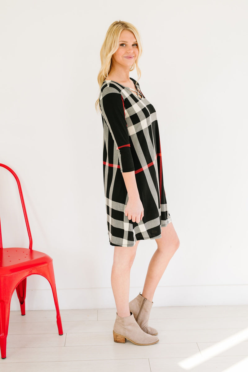 SAMPLE-Glad To Be Plaid Swing Dress