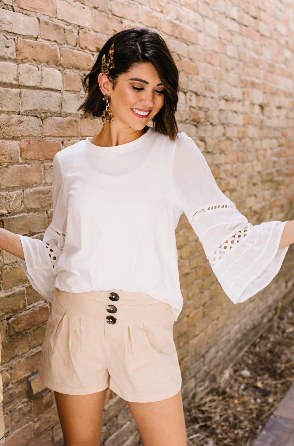 Above And Beyond Bell-Sleeve Top