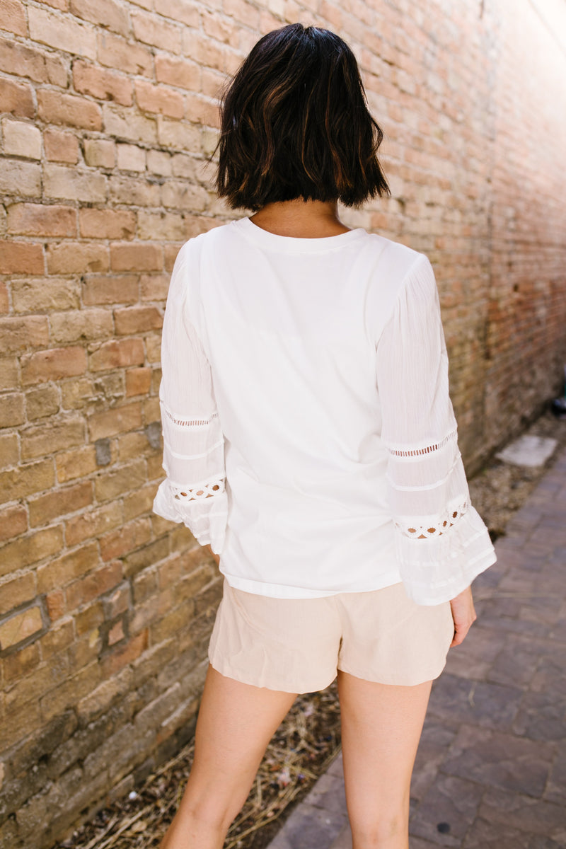 SAMPLE-Above And Beyond Bell-Sleeve Top