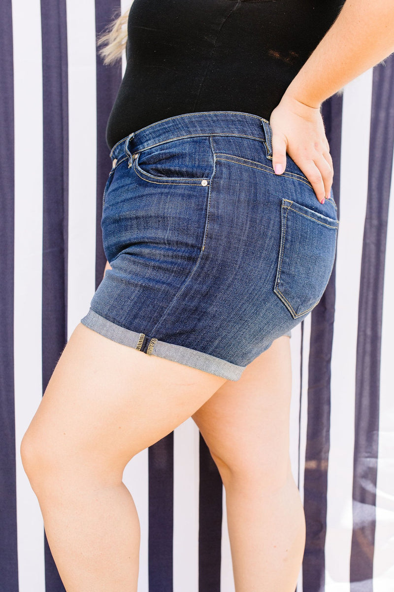 KanCan Long Hot Summer Cuffed Shorts