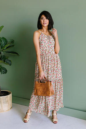 Miniature Roses Maxi Dress