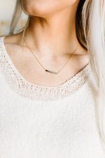 Ombre Beaded Bar Necklace