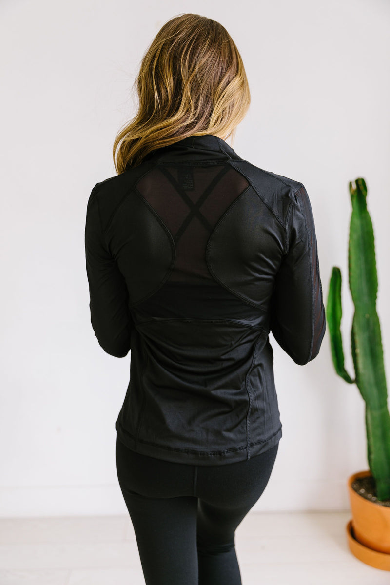 Sheer Willpower Black Jacket SAMPLE
