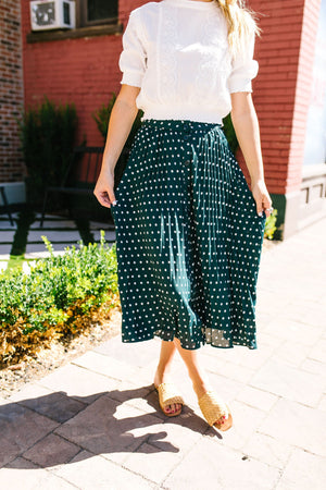 SAMPLE-Simpler Times Polka Dot Skirt