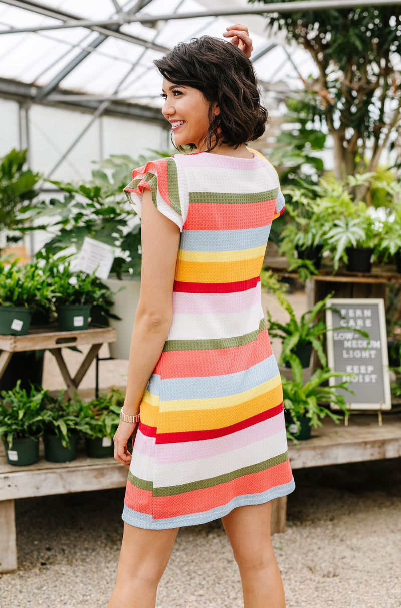 Summer Stripes Waffle Knit Dress