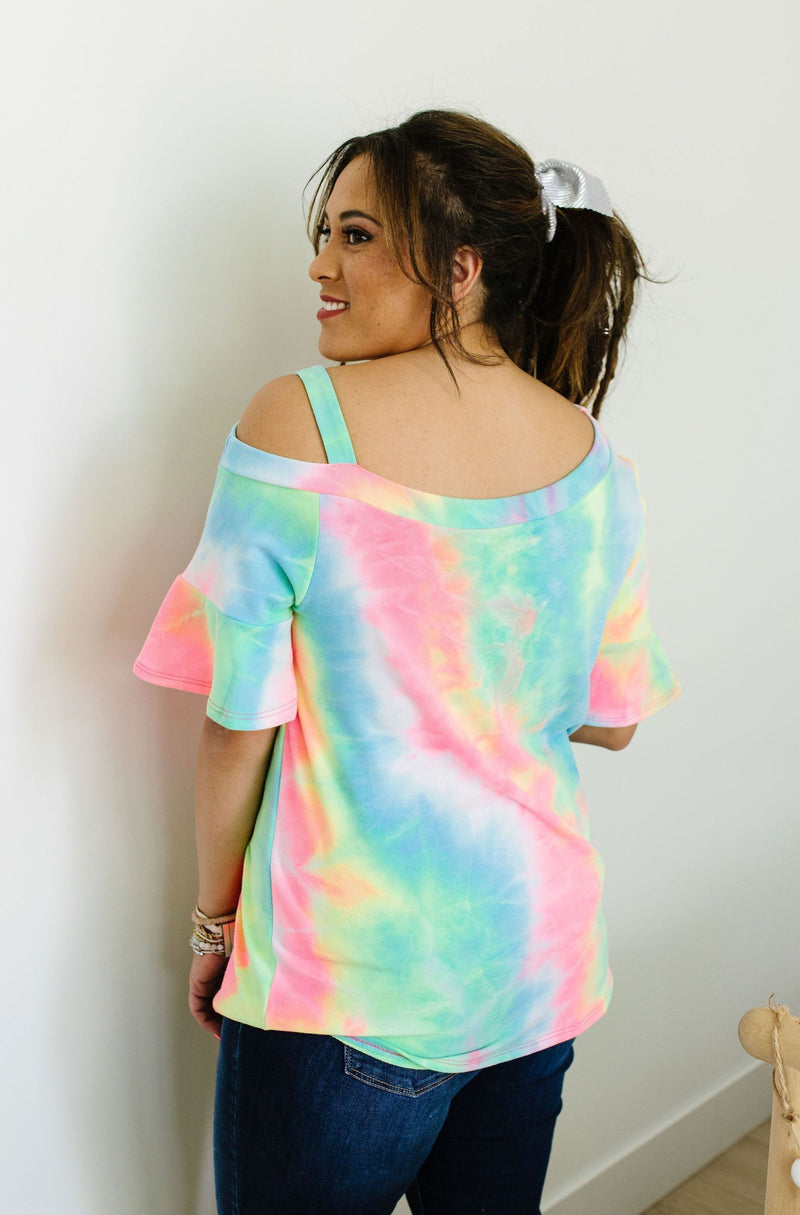 Tie Dyed Rainbow Top SAMPLE