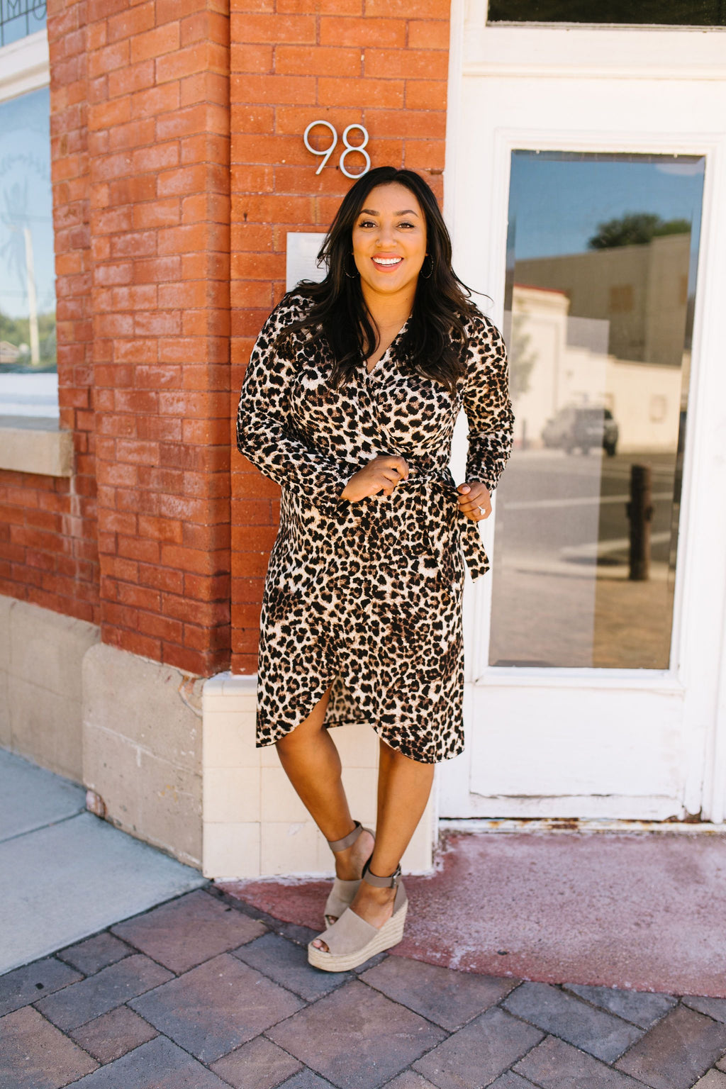 It's A Jungle Out There Leopard Print Wrap Dress
