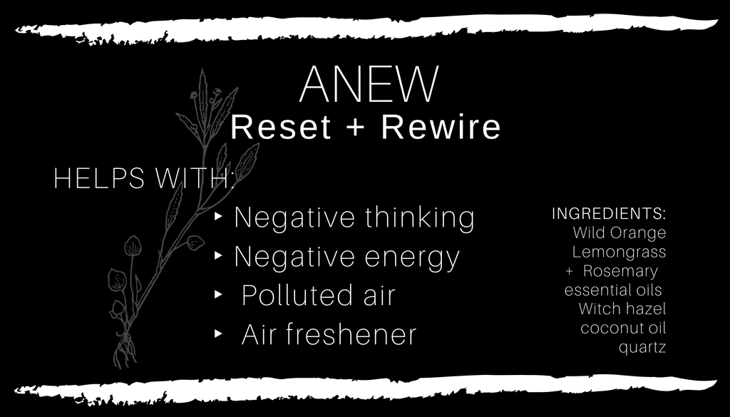 Crystal Infused ANEW  Spray // All Natural // Vegan