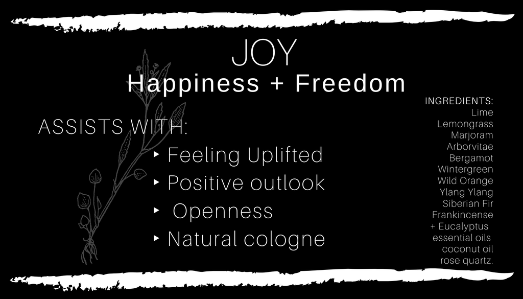 Crystal Infused JOY • Happiness + Freedom Body Oil // All Natural // Vegan