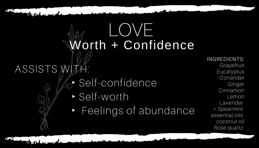 Crystal Infused L.O.V.E • Worth + Confidence Body Oil // All Natural // Vegan