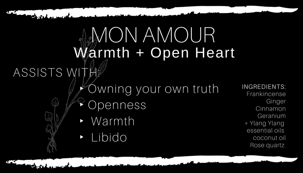 MON AMOUR • Open Heart + Loved Body Oil
