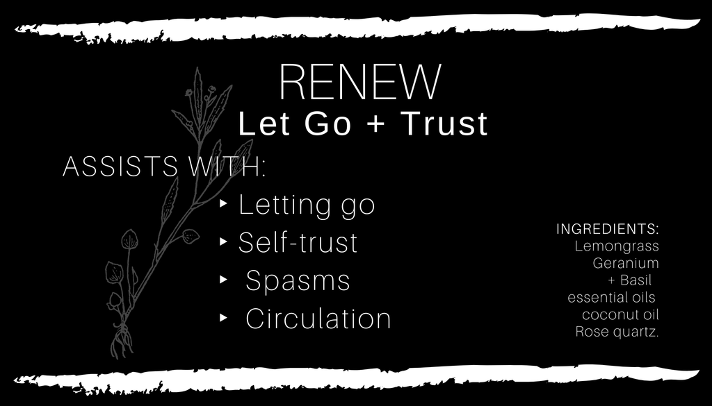 RENEW • Let Go + Trust Body Oil