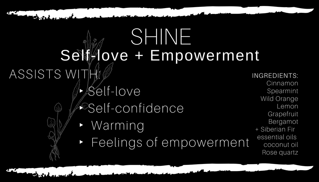 Crystal Infused SHINE • Self-Love + Empowerment Body Oil // All Natural // Vegan