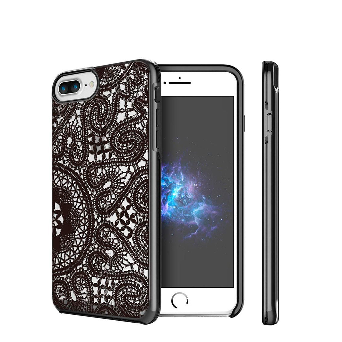 Capa de Smartphone Prodigee Show Lace Apple iPhone 7 Plus, 8 Plus Preto