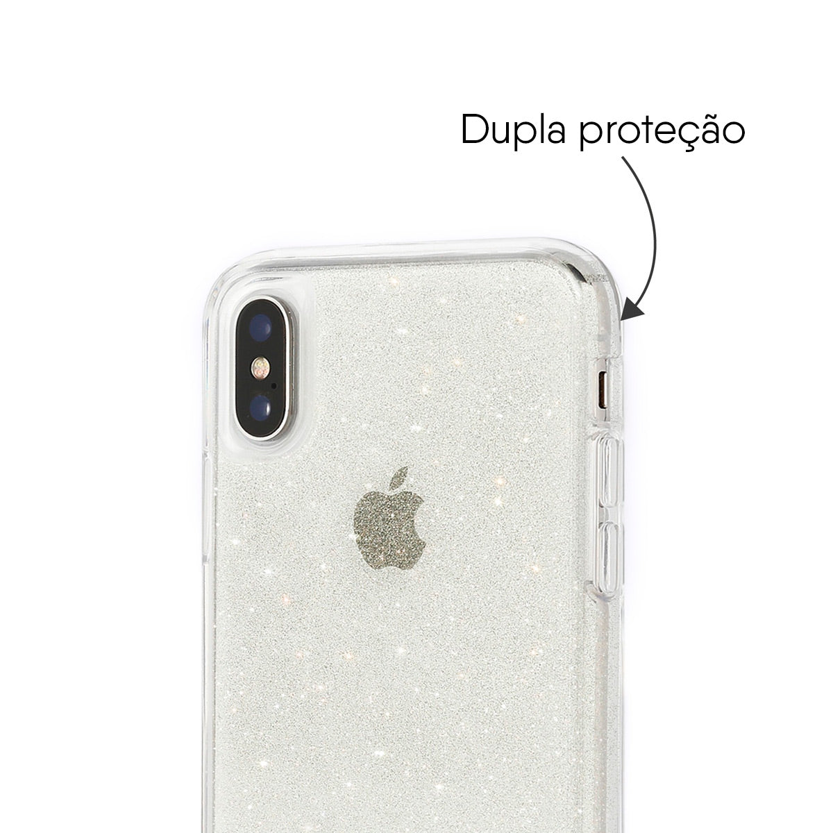 Capa de Smartphone Skech Matrix Sparkle Apple iPhone X, Xs Snow