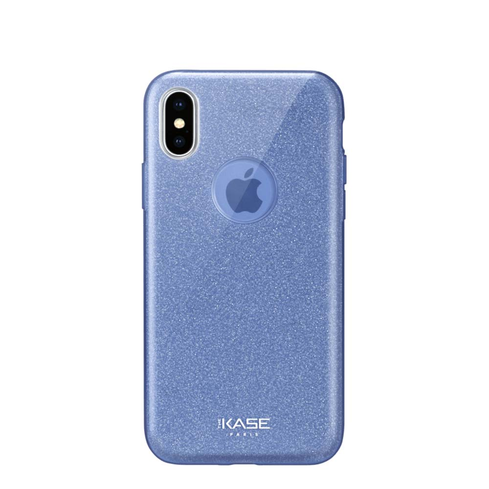 Capa de Smartphone The Kase Sparkly Glitter Slim Apple iPhone X/ Xs Azul
