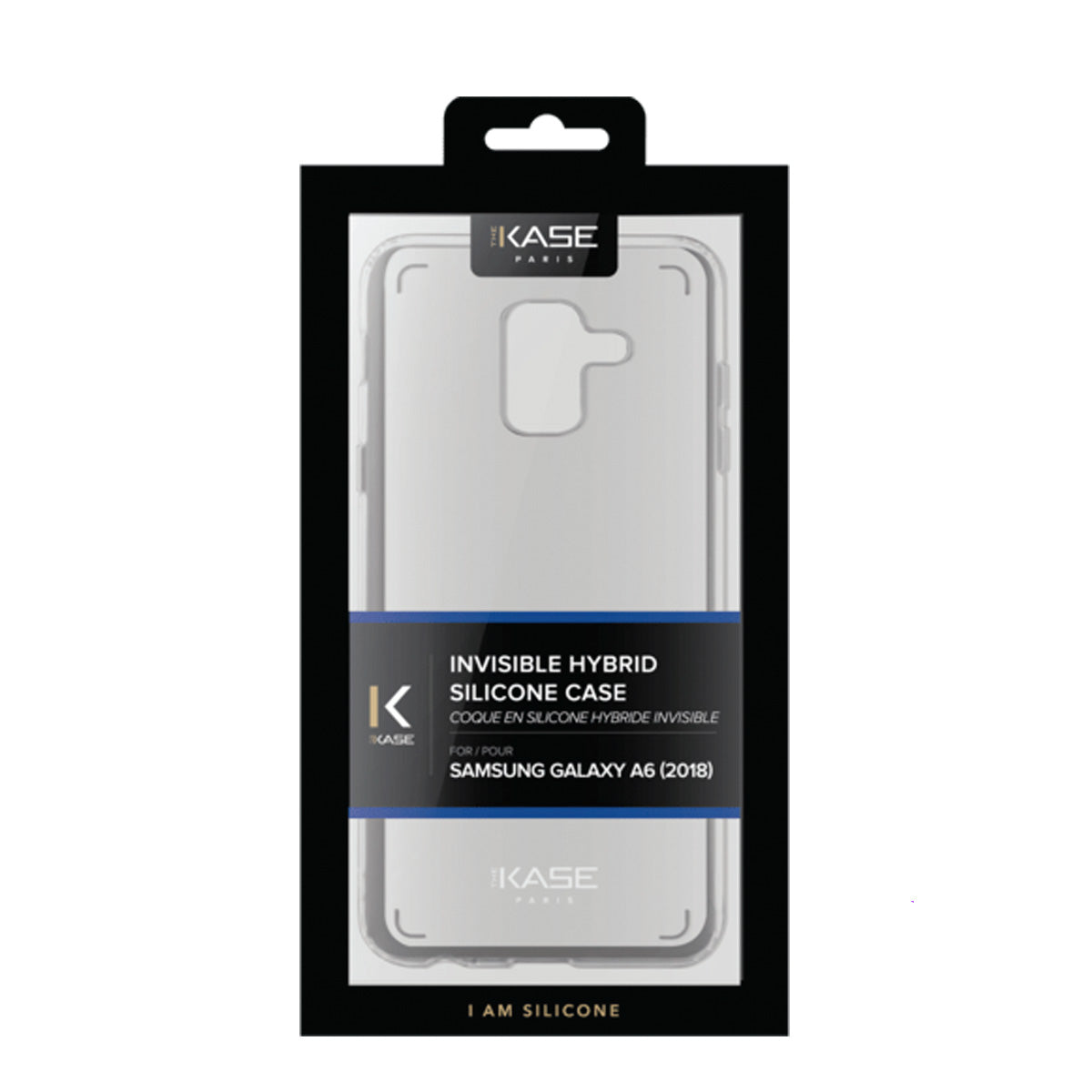 Capa de Smartphone The Kase Invisible 1.2mm Samsung Galaxy A6 2018 Transparente