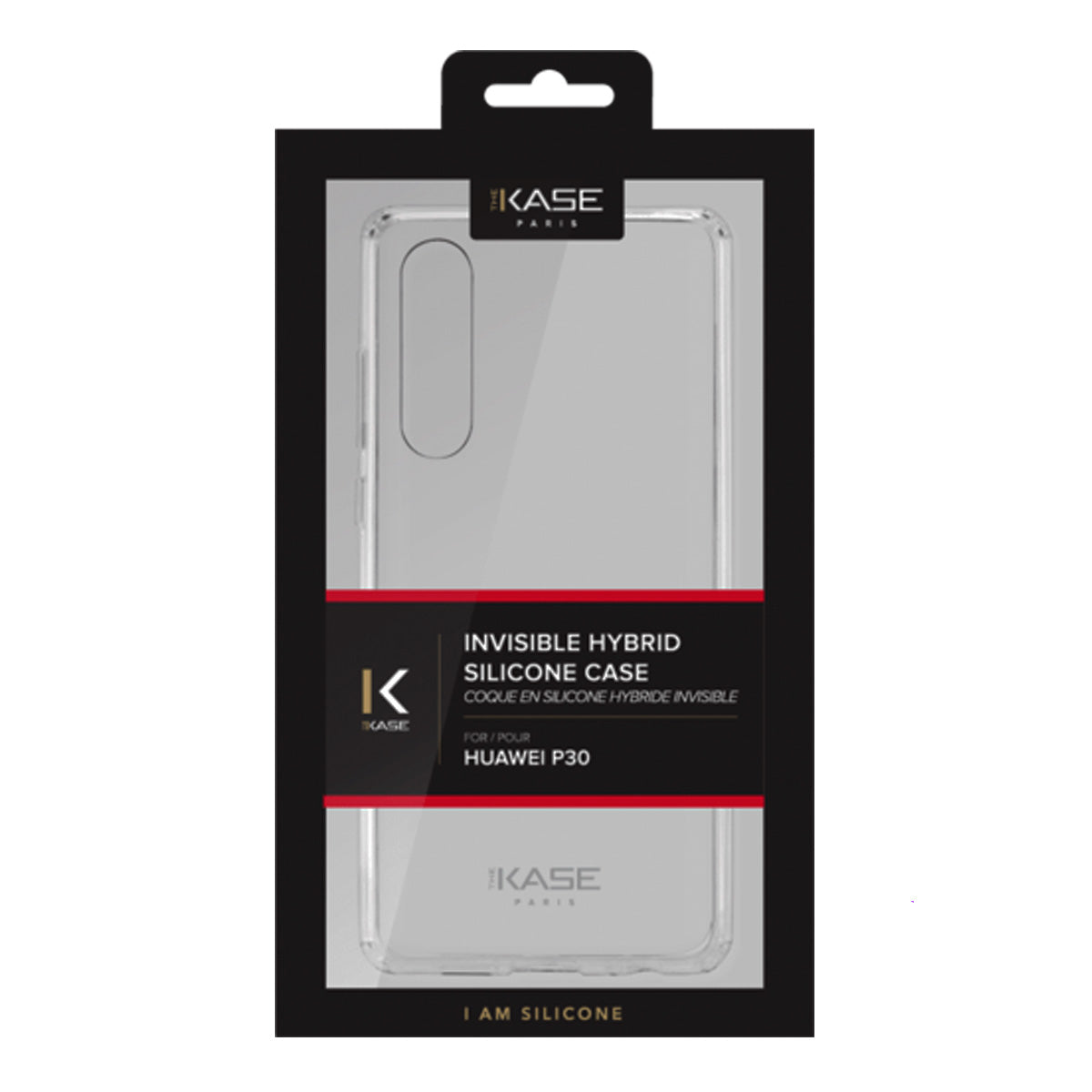 Capa de Smartphone The Kase Invisible Hybrid Huawei P30 Transparente