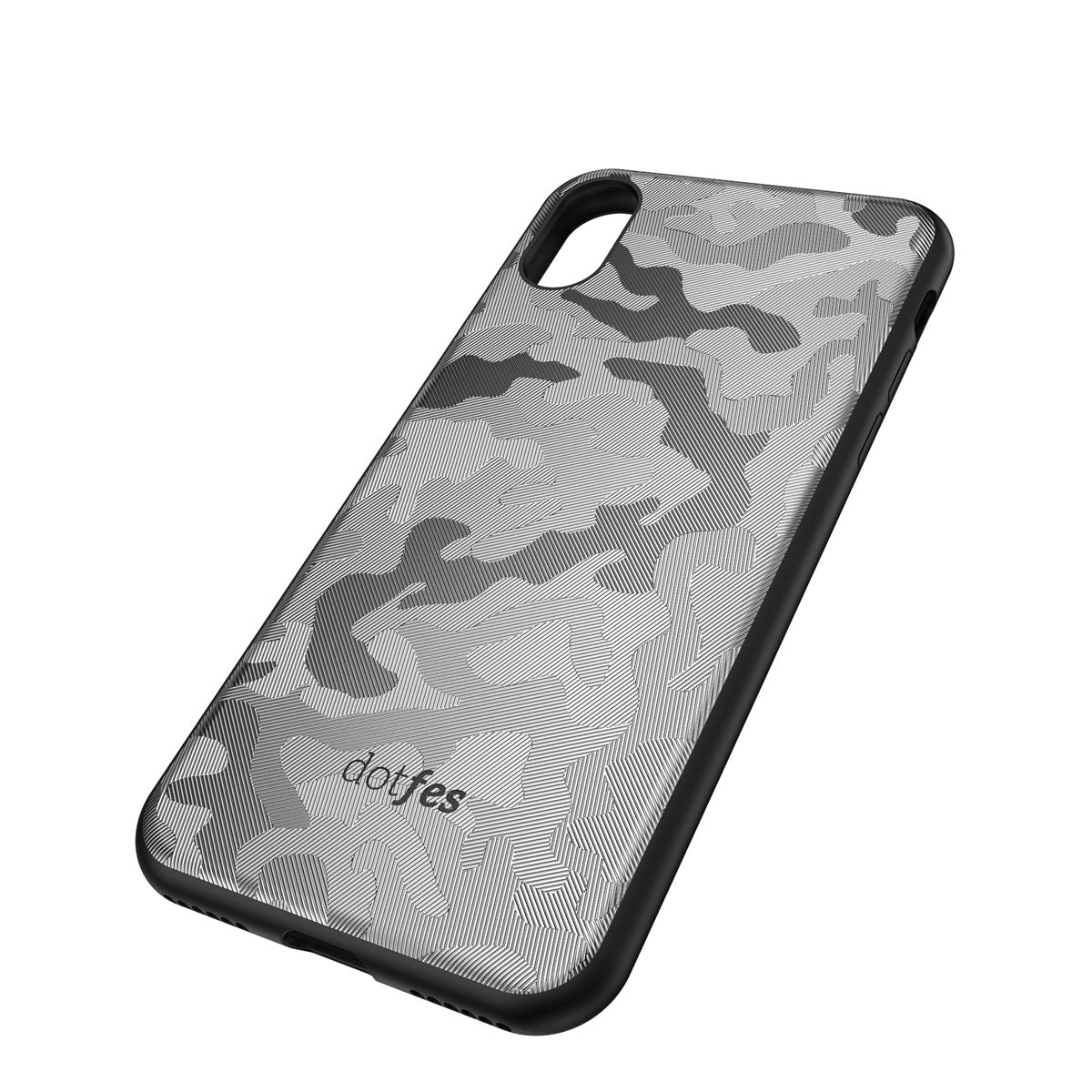 Capa de Smartphone Dotfes G07 Camouflage Style Apple iPhone Xr Cinza