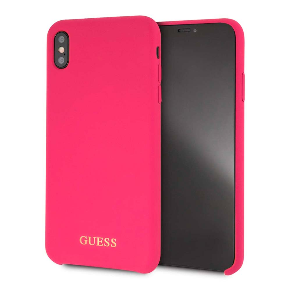 Capa de Smartphone Guess Silicone Apple iPhone Xs Max Rosa