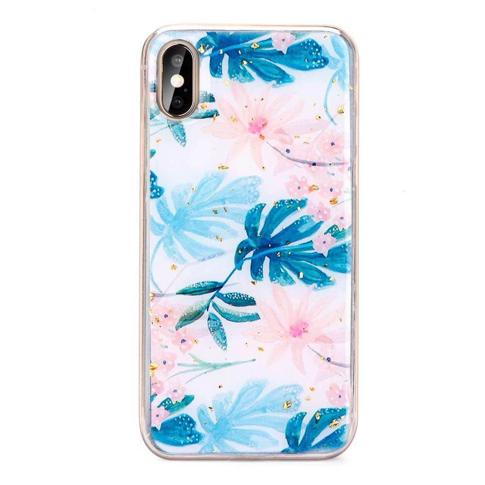 Capa de Smartphone Forcell Floral Samsung Galaxy A50 /A50s /A30s Azul
