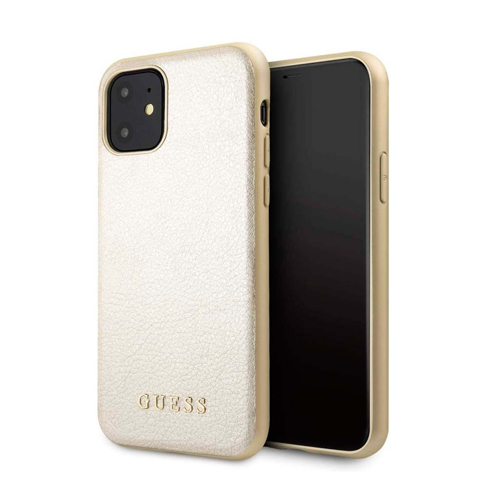 Capa de Smartphone Guess Irisdescent Pele Apple iPhone 11 Dourado