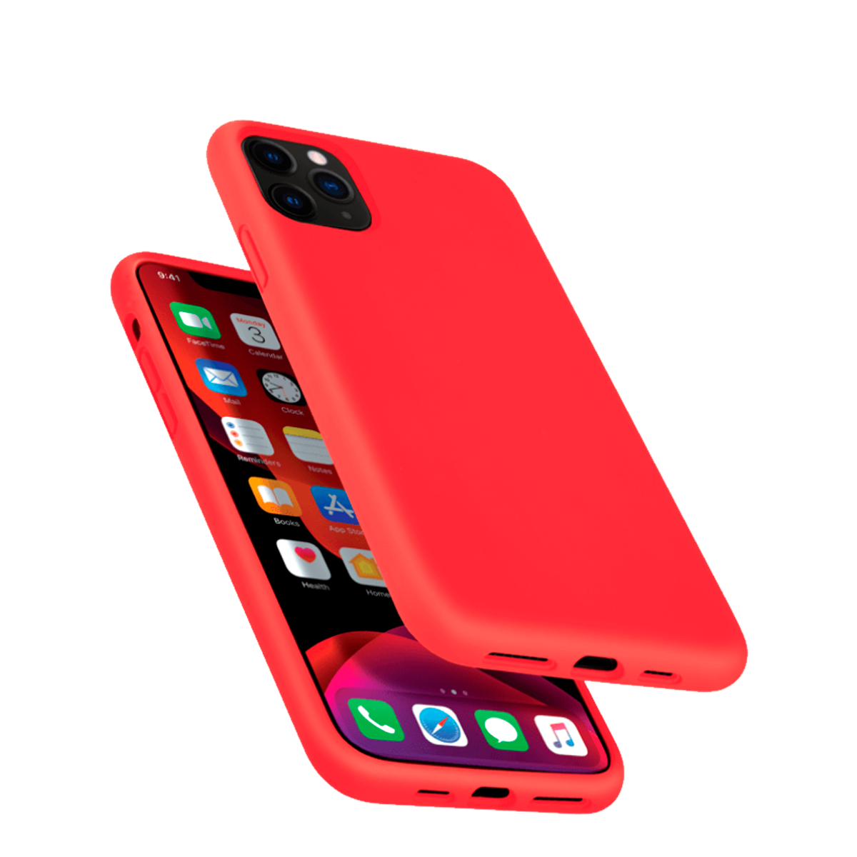 Capa de Smartphone The Kase Anti-Shock Silicone Apple iPhone 11 Pro Max Vermelha