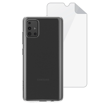 Capa de Smartphone Skech Bundle Matrix SE Samsung Galaxy A51 Clear