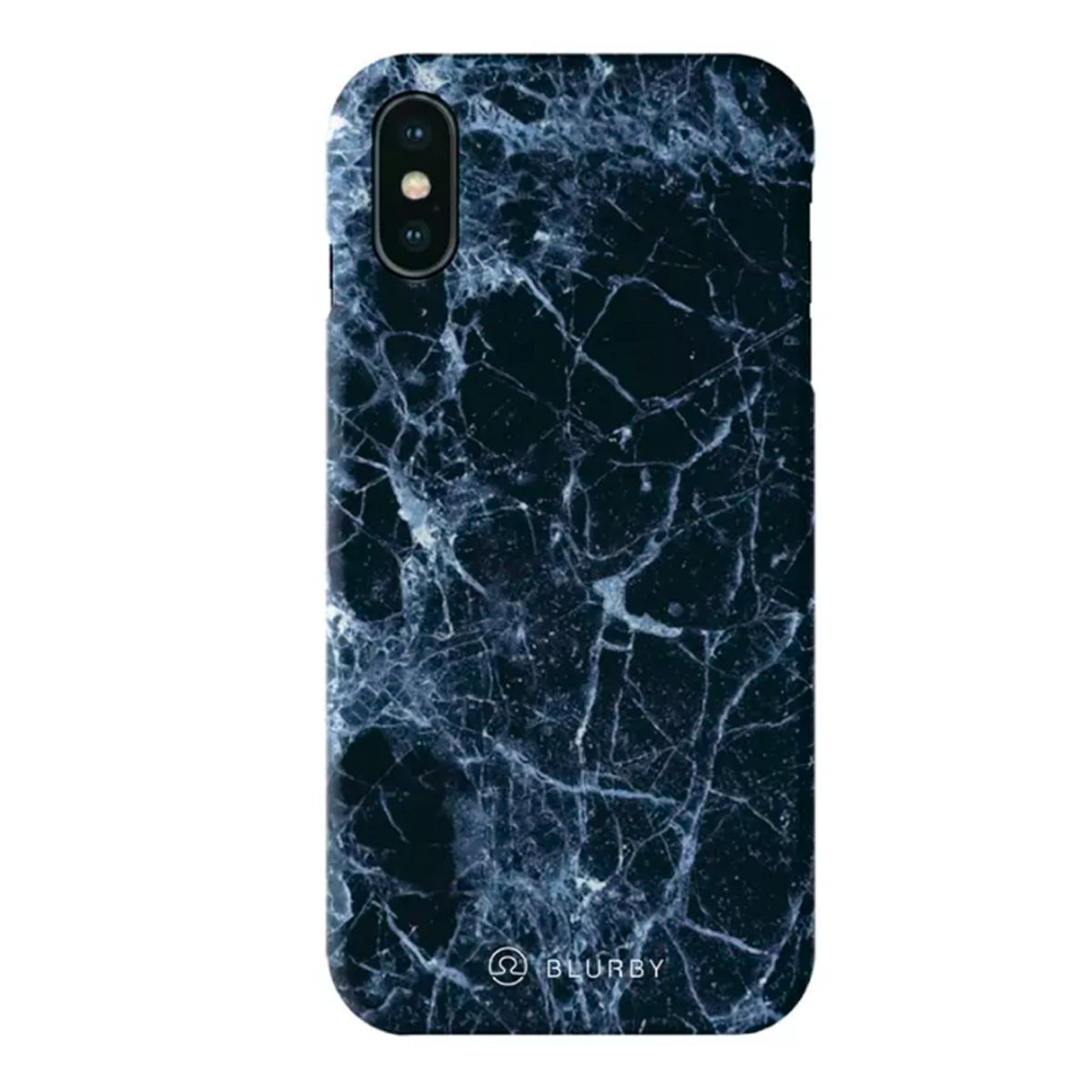 Capa de Smartphone Blurby Matte Apple iPhone X/ Xs Navy Blue Marble