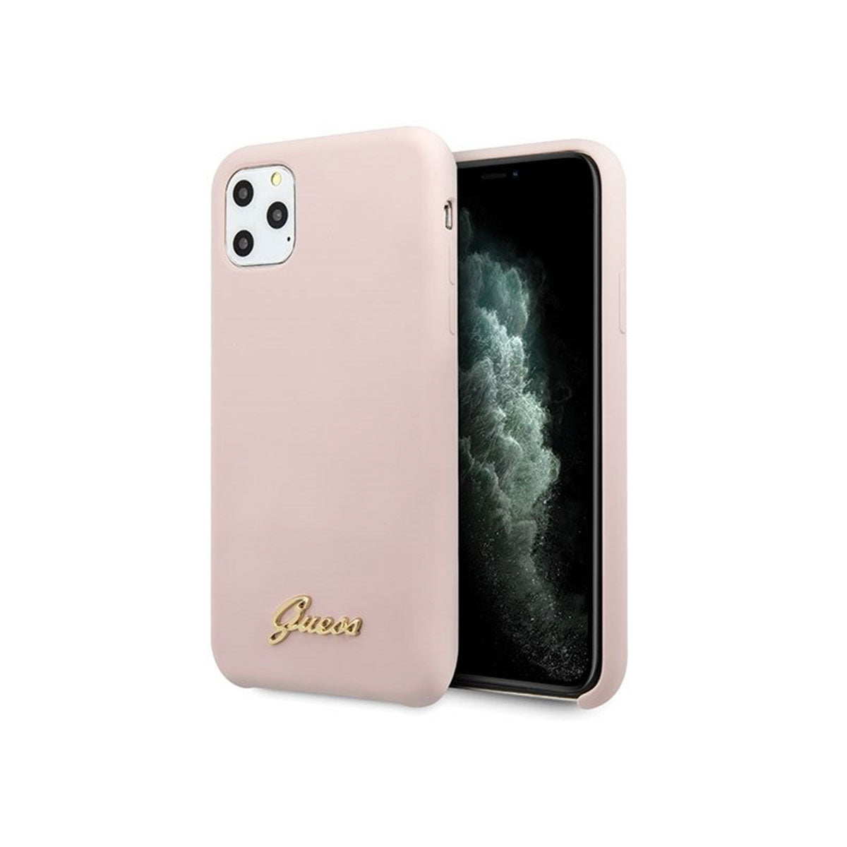 Capa de Smartphone Guess Silicone Vintage Logo Apple iPhone 11 Pro Max Pink Sand