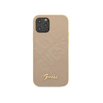 Capa de Smartphone Guess Pele Love Apple iPhone 12/ Pro Dourada