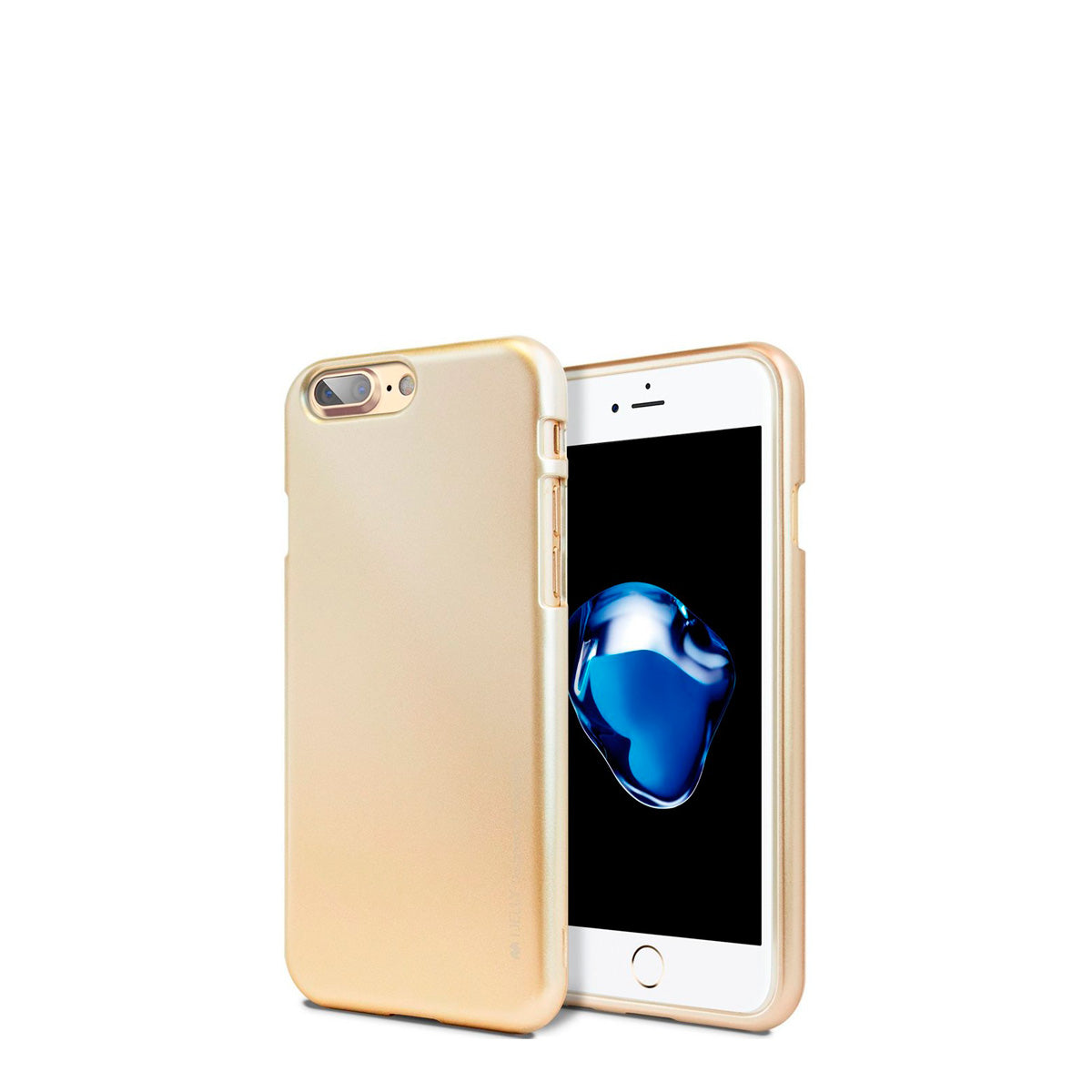 Capa de Smartphone Mercury I-Jelly Apple iPhone 7 Plus, 8 Plus Dourado