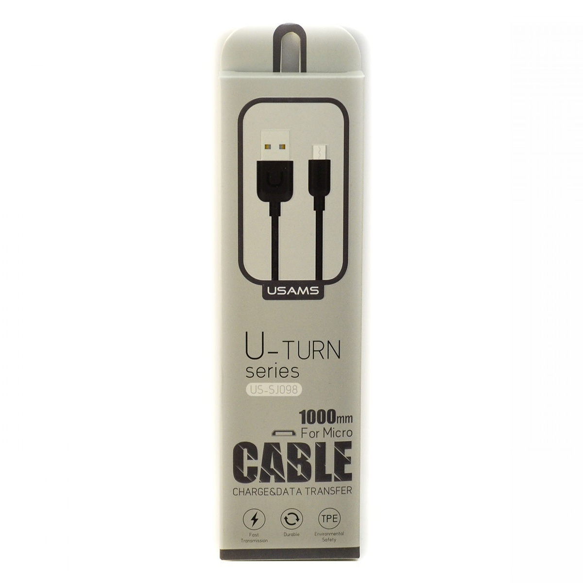 Cabo Usams U-Turn Series Micro USB 1M Preto
