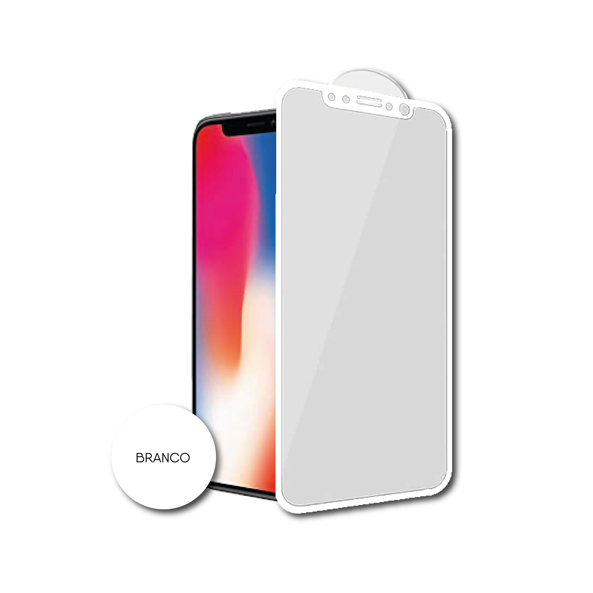 Protetor de Ecrã para Smartphone Smart Talk 3D Apple iPhone 7 Plus/ 8 Plus Branca