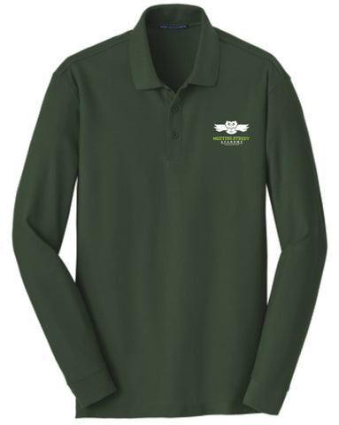 Dark Green Long Sleeve Polo