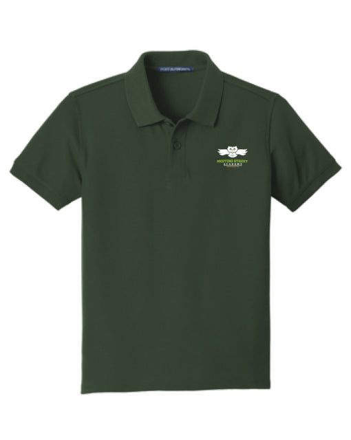 Dark Green Short Sleeve Polo (100% Polyester)
