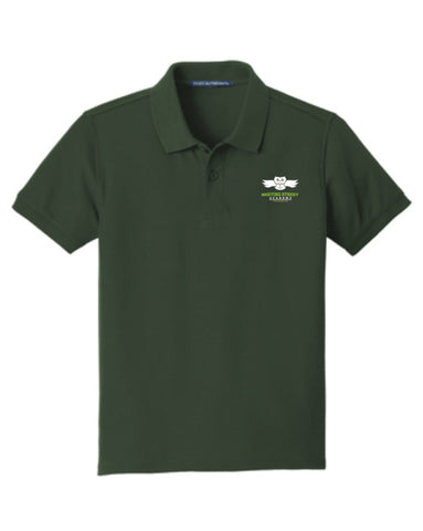 Dark Green Short Sleeve Polo (50% Polyester)