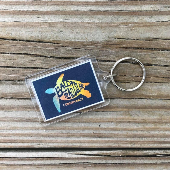 Sea Turtle Beach Pallet Key Chain