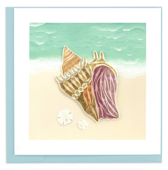 Conch Shell Quilling Card